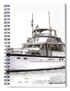 50 Foot Hatteras Motoryacht Spiral Notebook