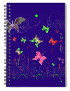 558   Butterflies  V Spiral Notebook