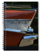 57 Chevy Fin Spiral Notebook
