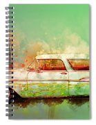 57 Chevy Nomad Wagon Blowing Beach Sand Spiral Notebook