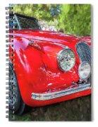 1954 Jaguar Xk 120 Se Ots  Spiral Notebook