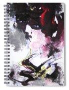 Abstract Figure Art Spiral Notebook