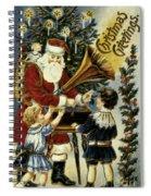 American Christmas Card Spiral Notebook