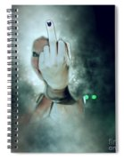 An Obscene Hand Sign Spiral Notebook