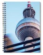 Berlin Tv Tower Spiral Notebook