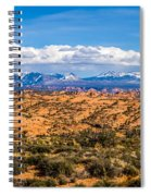 Canyon Badlands And Colorado Rockies Lanadscape Spiral Notebook