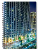 Charlotte North Carolina Skyline Spiral Notebook