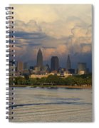 Cleveland Skyline From A Distant Park Spiral Notebook