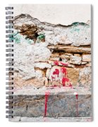 Damaged Wall Spiral Notebook