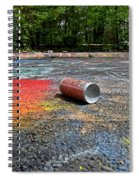 Discarded Spray Paint Can Spiral Notebook