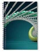 Dna Structure Spiral Notebook
