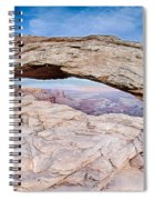 famous Mesa Arch in Canyonlands National Park Utah  USA Spiral Notebook