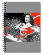 Film Homage Jane Russell The Outlaw 1943 Publicity Photo Photographer George Hurrell 2012 Spiral Notebook