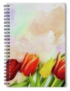 Flower Frame Border Spiral Notebook