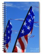Patriotic Flying Kite Spiral Notebook