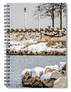 Frozen Winter Scenes On Great Lakes  Spiral Notebook
