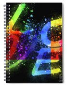 Graphic Display Of The Word Love  Spiral Notebook