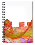 Greensboro North Carolina Skyline Spiral Notebook