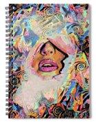 Hidden Face With Lipstick Spiral Notebook