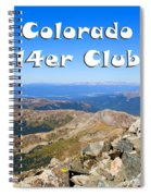 Hikers And Scenery On Mount Yale Colorado Spiral Notebook
