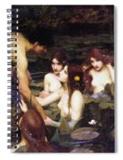 Hylas And The Nymphs Spiral Notebook