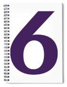6 In Purple Typewriter Style Spiral Notebook