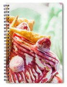 Italian Gelato Gelatto Ice Cream Display In Shop Spiral Notebook