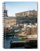 La Valletta Old Town Fortifications Architecture Scenic View In  Spiral Notebook
