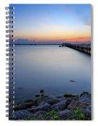 Melbourne Beach Pier Sunset Spiral Notebook