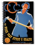New Deal: Wpa Poster Spiral Notebook