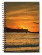 Orange Sunrise Seascape Spiral Notebook