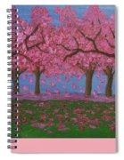 Pink Garden, Oil Painting Spiral Notebook