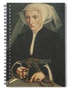Portrait Of A Lady Holding A Rosary Spiral Notebook