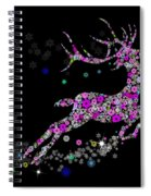 Reindeer Design By Snowflakes Spiral Notebook