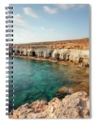 Sea Caves Ayia Napa - Cyprus Spiral Notebook