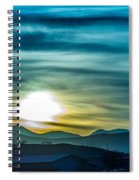Sunrise Over Colorado Rocky Mountains Spiral Notebook