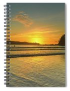 Sunrise Seascape From The Beach Spiral Notebook