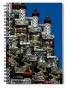 Temple Detail In Bangkok Thialand Spiral Notebook