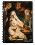 The Holy Family With Shepherds Spiral Notebook