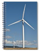Wind Turbine Farm Spiral Notebook