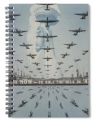 World War II Advertisement Spiral Notebook