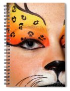 Young Female Model With Make Up Mask Spiral Notebook