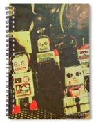 60s Cartoon Character Robots Spiral Notebook