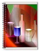 643  Still Life  With Bottles And  Cups  V  Spiral Notebook