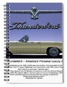 '66 Thunderbird Convertible Spiral Notebook