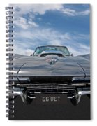 66 Vette Stingray Spiral Notebook