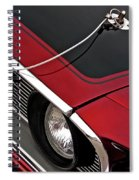 69 Mustang Hood Pin And Grille Spiral Notebook