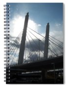 6th Street Bridge Backlit Spiral Notebook