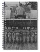 A Farmer Driving A Tractor Spiral Notebook