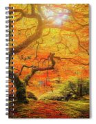 7 Abstract Japanese Maple Tree Spiral Notebook
